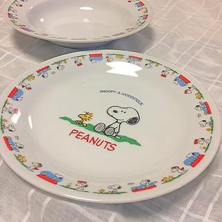 スヌーピー(SNOOPY)のスヌーピー絵皿 非売品 新品 4枚セット(食器)