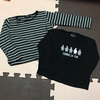 コムサイズム(COMME CA ISM)のコムサ ロンT 2枚セット 男の子 90 長袖 Tシャツ(Tシャツ/カットソー)