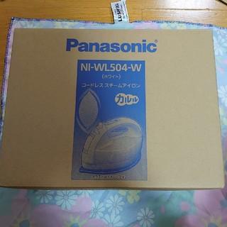 Panasonic - panasonic コードレススチームアイロン NI-WL504 ホワイト