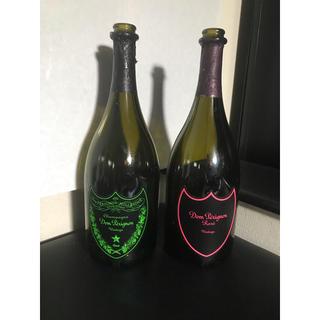 ドンペリニヨン(Dom Pérignon)のシャンパン空き瓶★2本セット★ドンペリ★ルミナスラベル(シャンパン/スパークリングワイン)