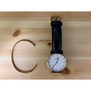 ダニエルウェリントン(Daniel Wellington)のダニエルウェリントン 腕時計、バングル(ゴールド)(腕時計(アナログ))
