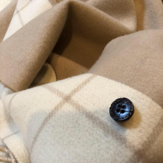 GRACE CONTINENTAL(グレースコンチネンタル)の便利アイテム♪フードファーチェックリバーシブルストール  レディースのファッション小物(ストール/パシュミナ)の商品写真