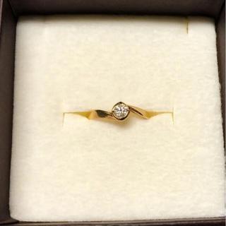 k18  ダイヤモンド ひと粒 リング  0.17ct(リング(指輪))