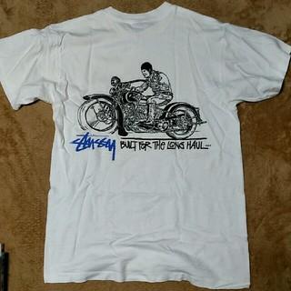 STUSSY - Stussy ステューシー 黒タグ レア バイカー Tシャツ