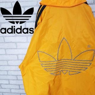 adidas - 古着 90S アディダス ナイロンジャケット ビックロゴ