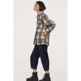H&M - 【今期新作!人気商品】H&M ロングシャツジャケット