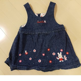 ミキハウス(mikihouse)のミキハウスの女の子用ジャンバースカート 80サイズ(ワンピース)