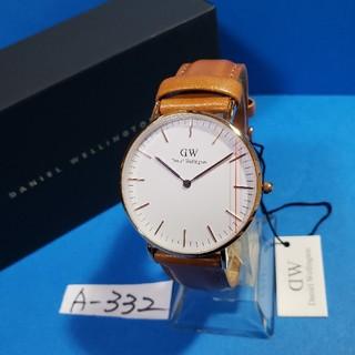 ダニエルウェリントン(Daniel Wellington)のA-332新品D.W.36mm❤DURHAMメンズ(白)♥激安価格♥送料無料❤(腕時計(アナログ))