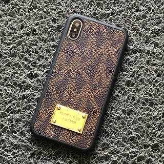 マイケルコース(Michael Kors)の箱なし iPhoneX/Xs ブラウン モノグラム  マイケルコース ケース(iPhoneケース)