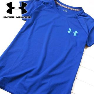 アンダーアーマー(UNDER ARMOUR)の超美品 M アンダーアーマー レディース 半袖Tシャツ ブルー(Tシャツ(半袖/袖なし))