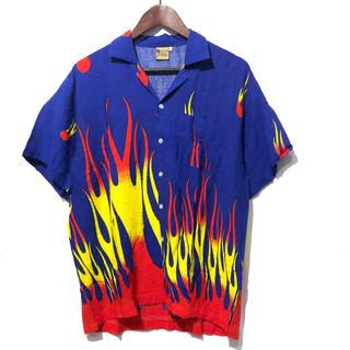 ラッドミュージシャン(LAD MUSICIAN)のファイヤーパターン オープンカラーシャツ(シャツ)
