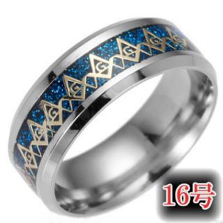 フリーメイソンリング16号 ブルー(リング(指輪))