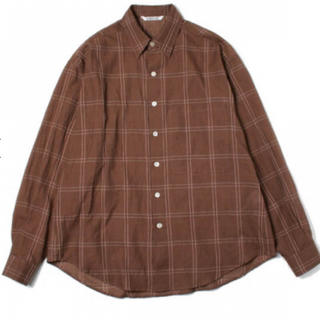 COMOLI - AURALEE オーラリー シャツ チェックシャツ