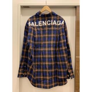 バレンシアガ(Balenciaga)の【BALENCIAGA】19SS バレンシアガ バックロゴチェックシャツ 40(シャツ)