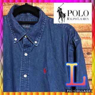 POLO RALPH LAUREN - 《超美品》Polo Ralph Lauren ポニーロゴ ボタンダウンシャツ
