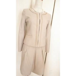アールユー(RU)の約6万円購入ruマルイ ノーカラージャケット&スカート 上品ラメスーツセット(スーツ)