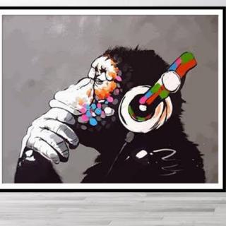 バンクシー ウォールステッカー ステッカー シール チンパンジー 猿
