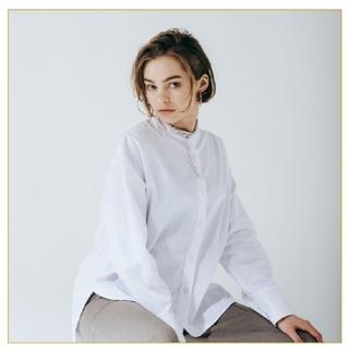 yonfa  boxy slit shirt