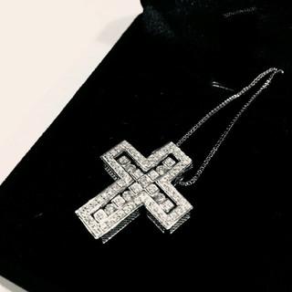 ホワイトゴールド plating 5A cz diamond ネックレス