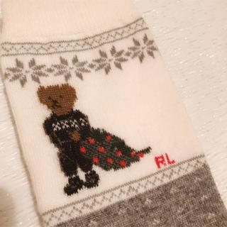 ポロラルフローレン(POLO RALPH LAUREN)の新品 ポロ ラルフローレン くまさんソックス 靴下(ソックス)