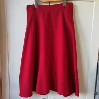 シマムラ(しまむら)の新品未使用 フレアスカート 赤(ロングスカート)