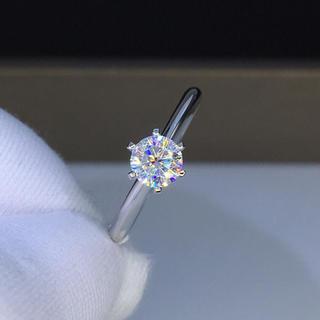 【0.5カラット  】輝く モアサナイト  ダイヤモンド リング(リング(指輪))
