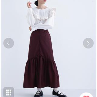 メルロー(merlot)の【タイムセール】 新品未使用 メルロープリュス  裾フリルロングスカート(ロングスカート)