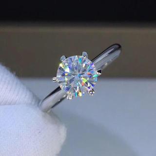【お試し価格】輝く モアサナイト  ダイヤモンド リング(リング(指輪))