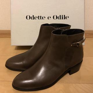 Odette e Odile - 新品未使用 odette e odile 本革ショートブーツ オデット  レザー