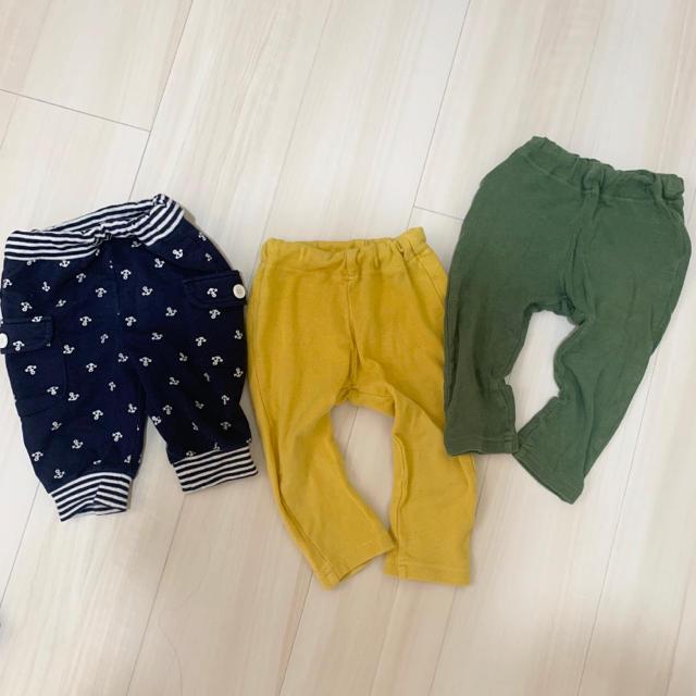 BREEZE(ブリーズ)のパンツ 3枚セット 80 90 キッズ/ベビー/マタニティのベビー服(~85cm)(パンツ)の商品写真