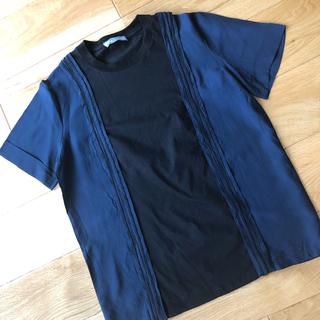 プラダ(PRADA)のプラダ異素材使いトップス(Tシャツ(半袖/袖なし))