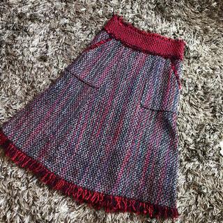 トリーバーチ(Tory Burch)のTory Burchツィードスカート(ひざ丈スカート)