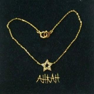 AHKAH - アーカー パールとダイヤモンド付スターモチーフのK18ブレスレット