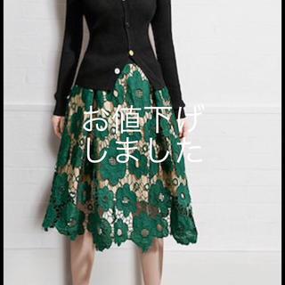 ZARA - 花柄レーススカート 💕オシャレ 目を惹くデザイン