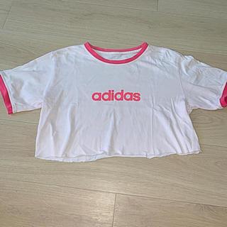 adidas - adidas ピンクショート丈Tシャツ