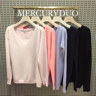 MERCURYDUO - MERCURY DUO カシミア風AC ニット♡snidel リリーブラウン