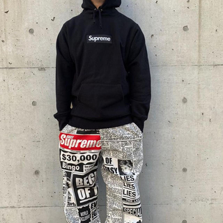 Supreme - supreme newsprint skate pants 18aw