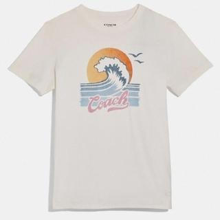 コーチ(COACH)の【COACH★F72431】コーチ トップス 半袖 Tシャツ 白 新品タグ付き(Tシャツ(半袖/袖なし))
