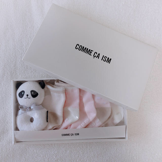コムサイズム(COMME CA ISM)の靴下セット×パンダガラガラ(靴下/タイツ)