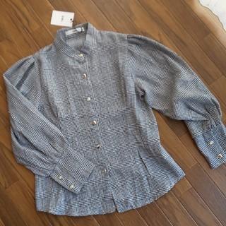 グレイル(GRL)の【GRL】ボリュームスリーブチェックシャツ(シャツ/ブラウス(長袖/七分))