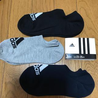 adidas - adidas☆靴から見えにくい 深履きスニーカーソックス①  23〜25
