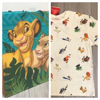 Disney - 総柄 キャラクター Tシャツ  ライオンキング