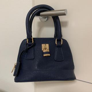 グレイル(GRL)のミニバッグ ハンドバッグ カデナ 鍵 紺色 ネイビー パーティー(ハンドバッグ)