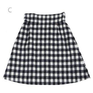 MILK - 🧸美品🧸MILK テディギンガム スカート ブラック