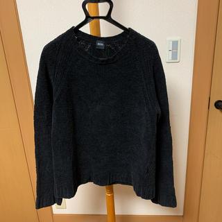 ヒューゴボス(HUGO BOSS)のHUGO BOSS ヒューゴボス ニット セーター ブラック Uネック(ニット/セーター)