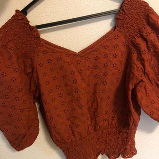 ダブルクローゼット(w closet)のブラウス オレンジ(シャツ/ブラウス(半袖/袖なし))