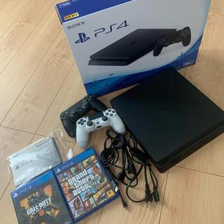 PlayStation4 - PS4 本体 ゲーム2つ 純正コントローラー2つ付