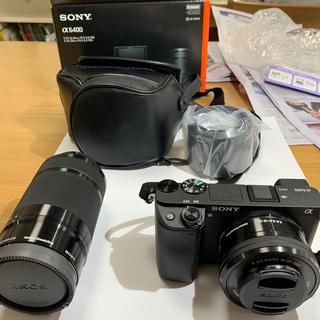 SONY - 【極上品】SONY α6400 ミラーレスカメラ ダブルズームレンズキット