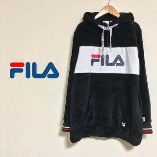 FILA - 古着 FILA フィラ ベロア ロングパーカー