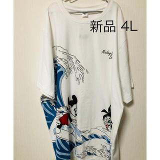 Disney - ディズニー ミッキーマウス ドナルドダック ビッグtシャツ 白